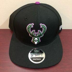New Era, 9Fifty Snapback Hat, Milwaukee Bucks